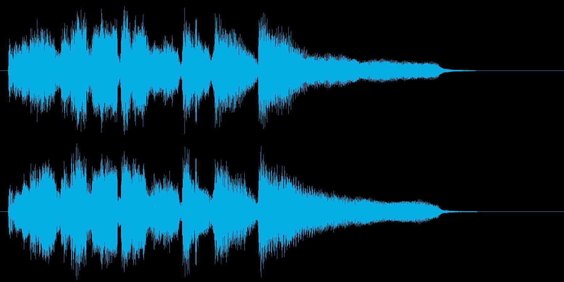 スマートなサックスのジャズ系ジングルの再生済みの波形