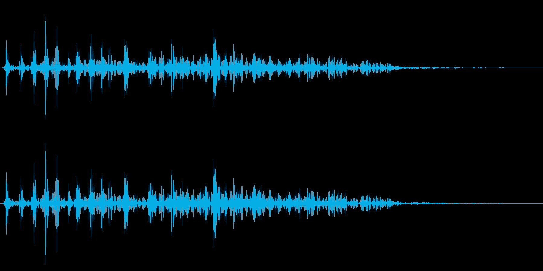 カウッ(可愛い噛みつき音)の再生済みの波形