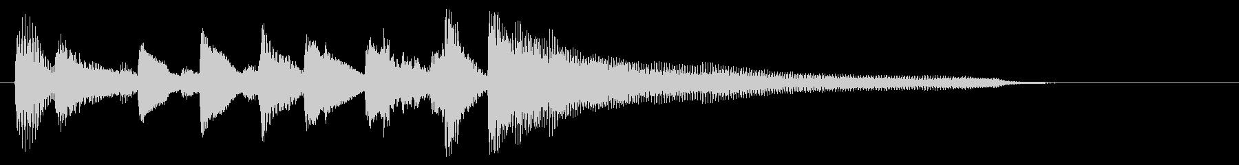 【ピアノのみ】陽気オシャレ!ジャズロゴ!の未再生の波形
