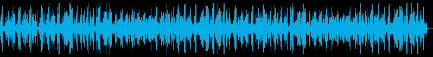 ほのぼのとした日常を表した可愛いBGMの再生済みの波形