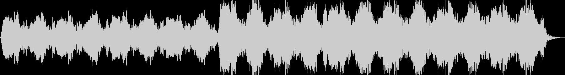 アンビエントなホラー曲の未再生の波形