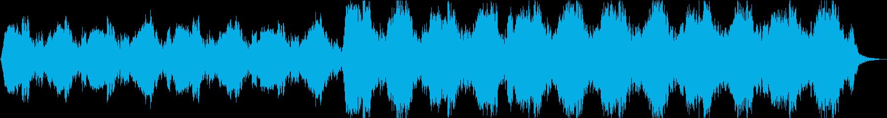 アンビエントなホラー曲の再生済みの波形