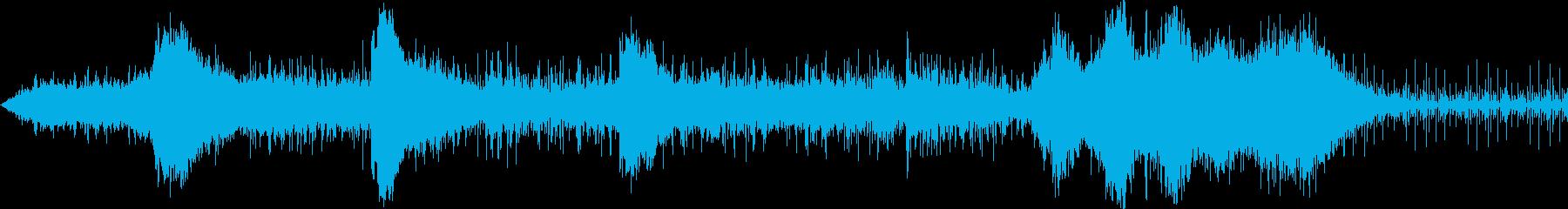 アンビエントなSci-Fi的恐怖音と囁きの再生済みの波形