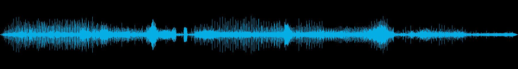 ラジオスキャン8の調整の再生済みの波形