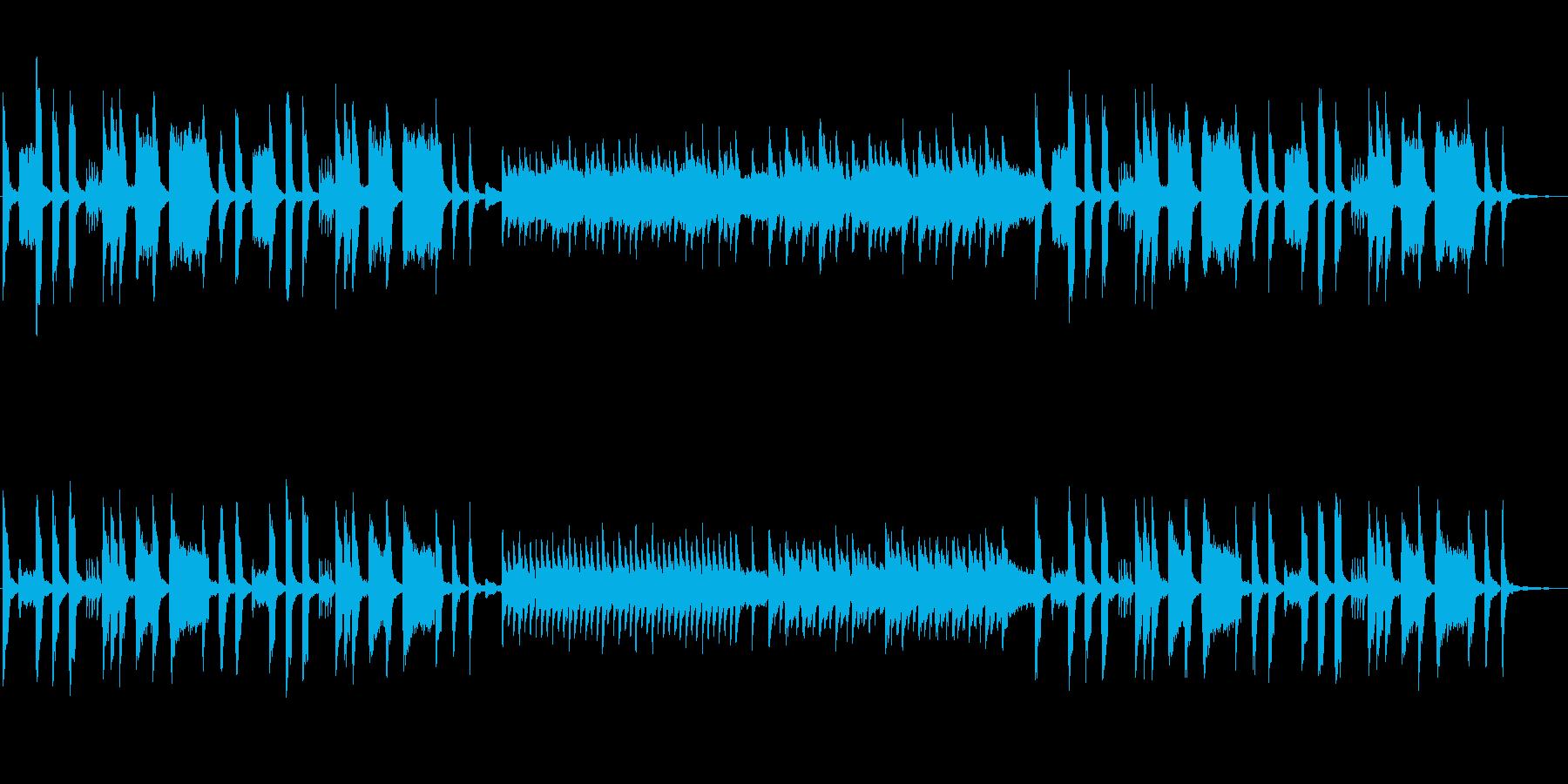 明るくも切ない日常系BGMの再生済みの波形