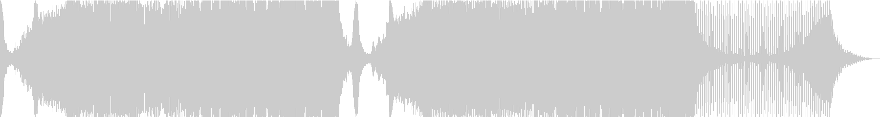 RockテイストなEDMの未再生の波形