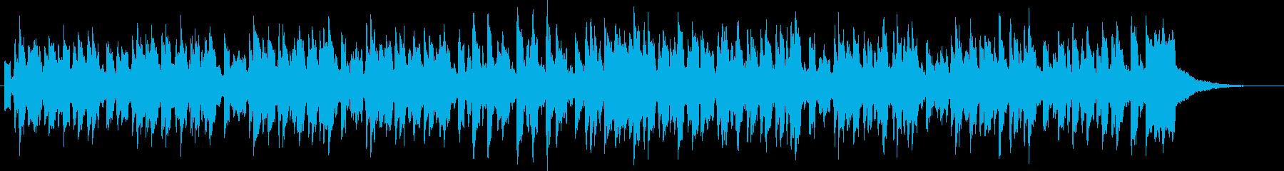 シンセとスチールドラムのほのぼのジングルの再生済みの波形