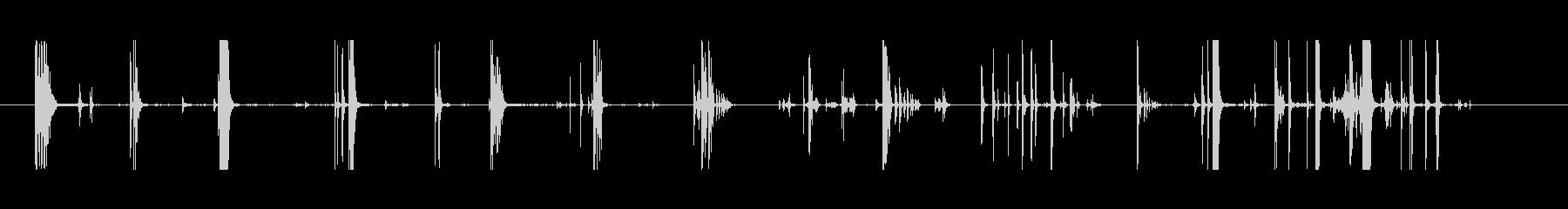 メタルフォークカップスプーンムーブメントの未再生の波形