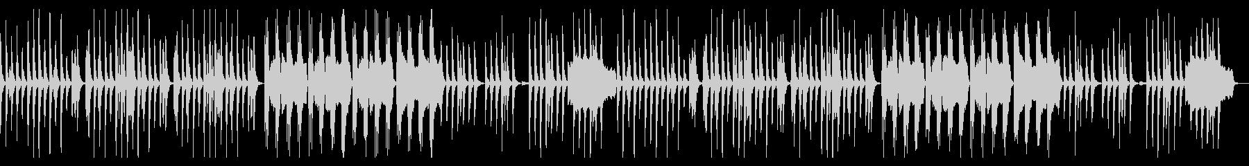 怪しくゆっくりでシンプルな曲の未再生の波形