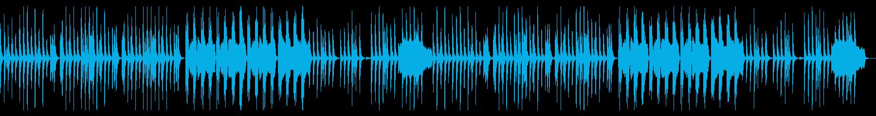怪しくゆっくりでシンプルな曲の再生済みの波形