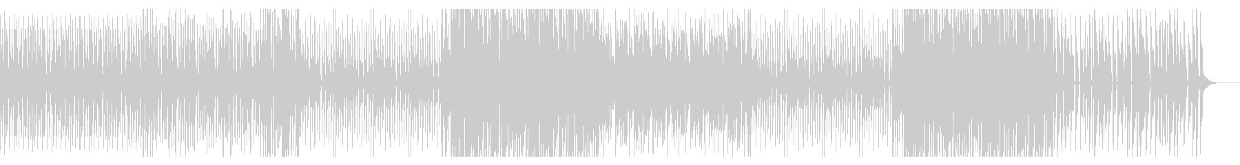 ピアノが軽快な4つ打ち曲の未再生の波形