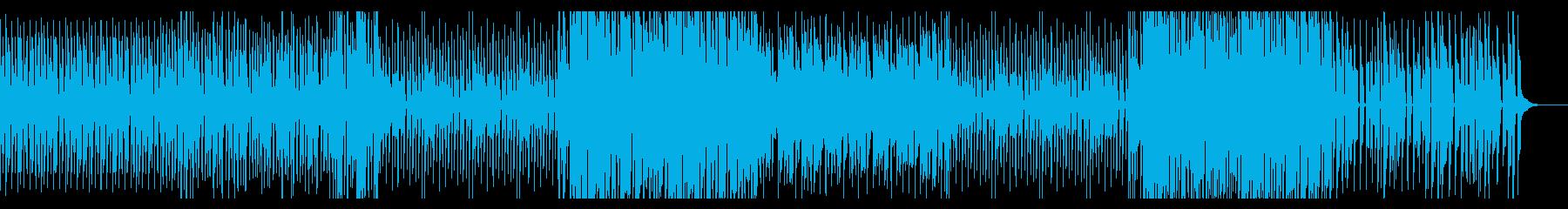ピアノが軽快な4つ打ち曲の再生済みの波形