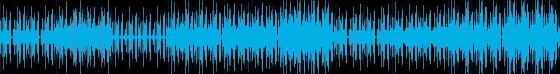 空間系シンセ&クールなギターの再生済みの波形