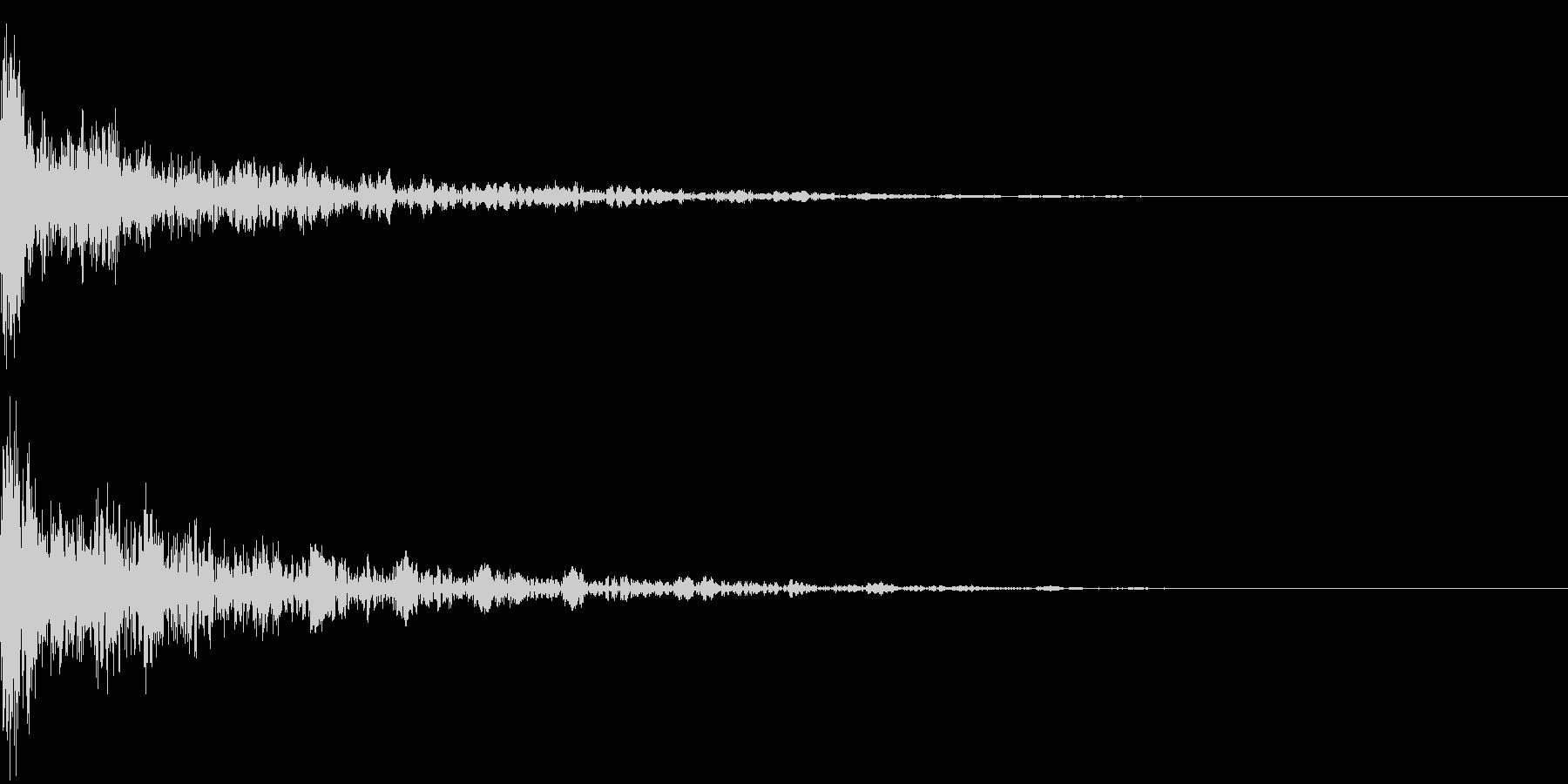 ドーン-18-2(インパクト音)の未再生の波形