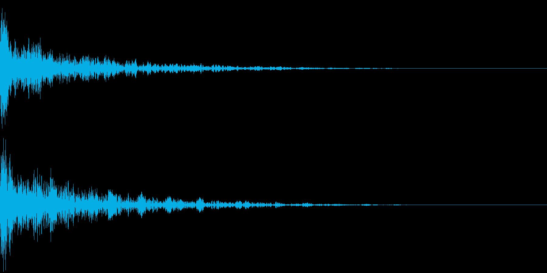 ドーン-18-2(インパクト音)の再生済みの波形