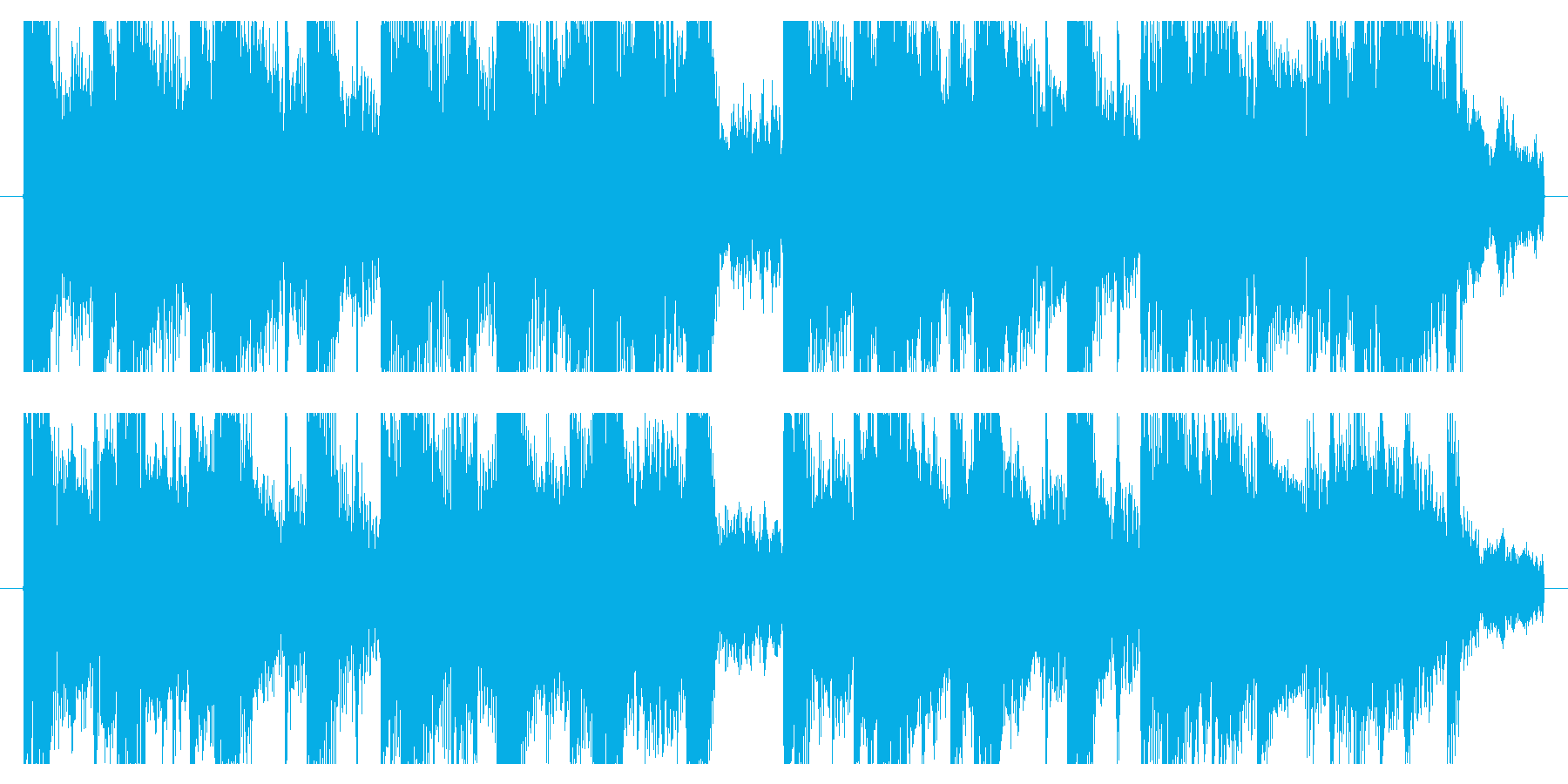 Impression difference ver./Refreshing cute jingle's reproduced waveform