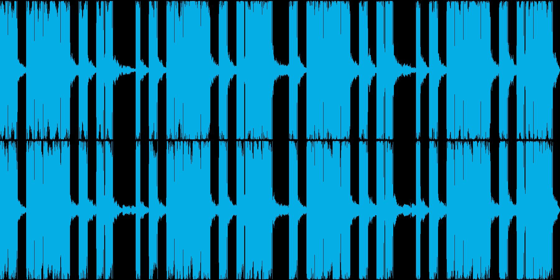 EDMで聞かれるボーカルチョップですの再生済みの波形