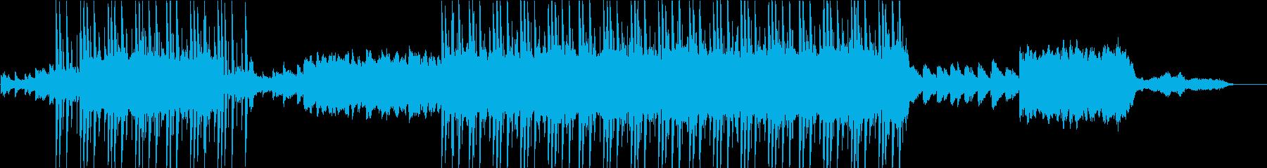 エンディングを迎える感動的なバラードの再生済みの波形