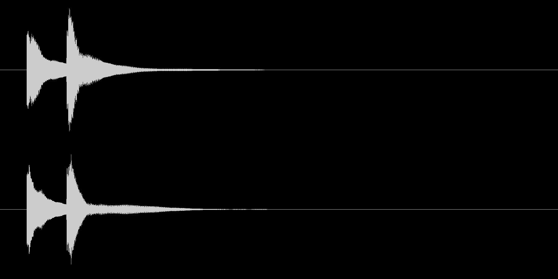 ピンポン【正解・ドアベル・チャイム】の未再生の波形