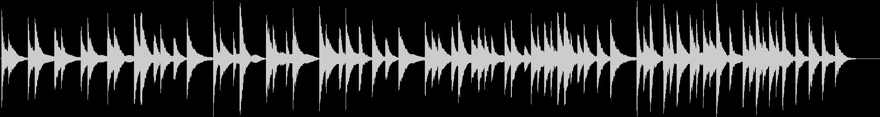 ピアノの音色で作ったシンプルな曲の未再生の波形