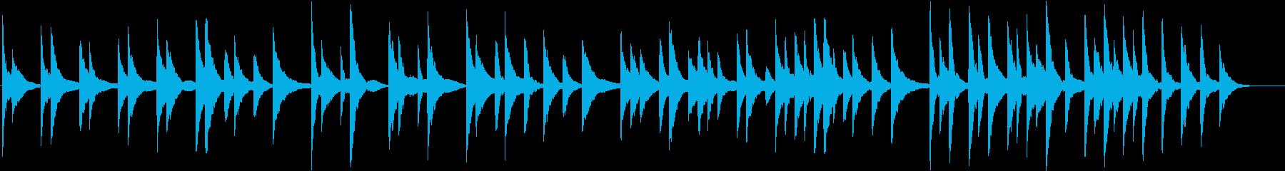 ピアノの音色で作ったシンプルな曲の再生済みの波形