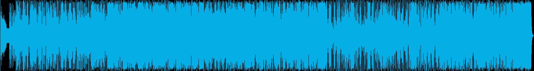ファンキーなロックンロール曲の再生済みの波形
