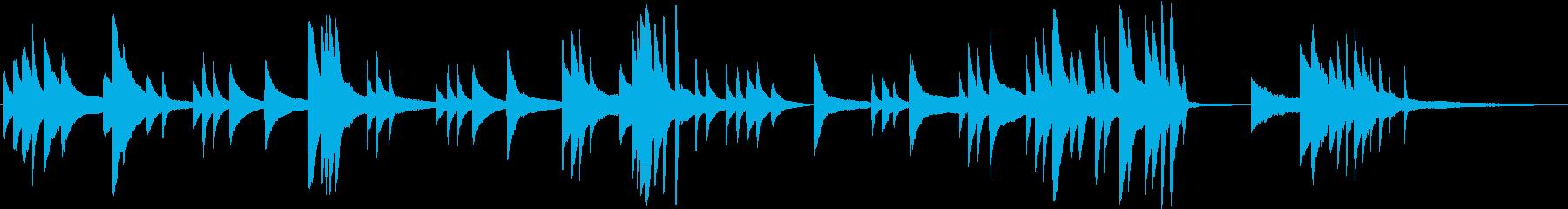 ピアノソロ。音数少なく短いヒーリング曲♪の再生済みの波形