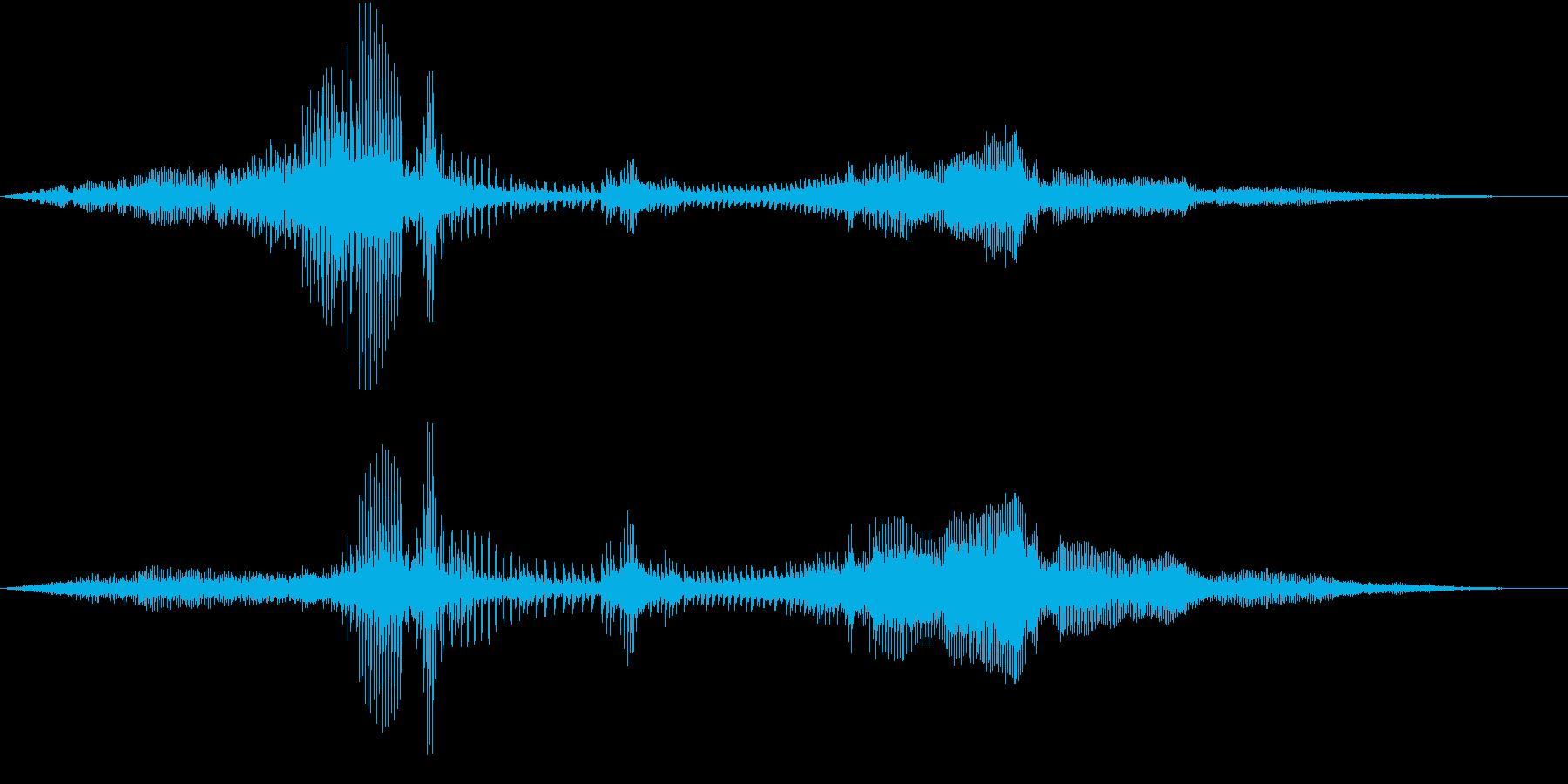 【生録音】バイクのエンジン音 停車・発進の再生済みの波形