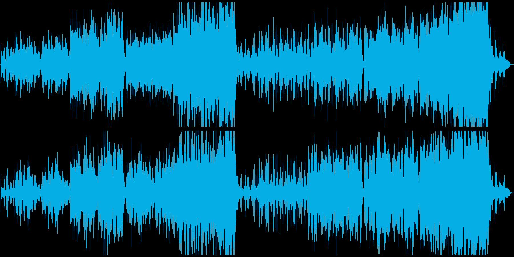日常が流れる雰囲気のBGM・オーケストラの再生済みの波形