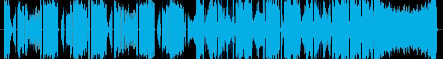 弾けるように明るいテクノポップの再生済みの波形
