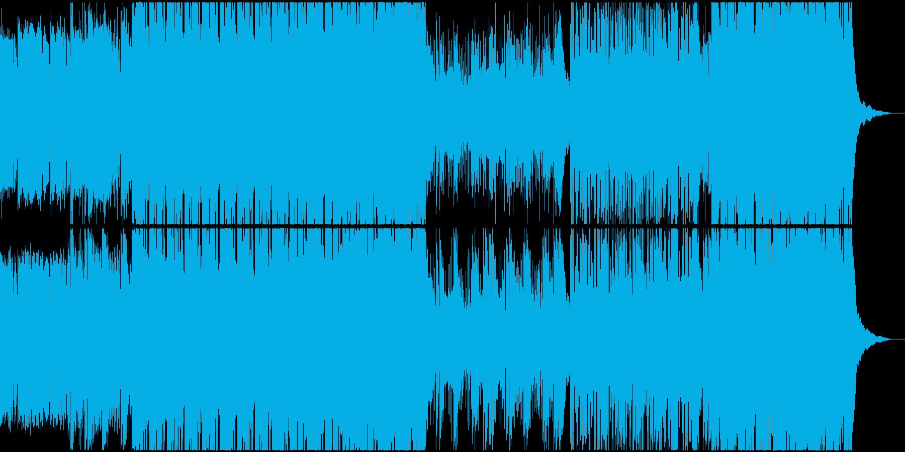切ない感じで疾走感のあるBGMの再生済みの波形