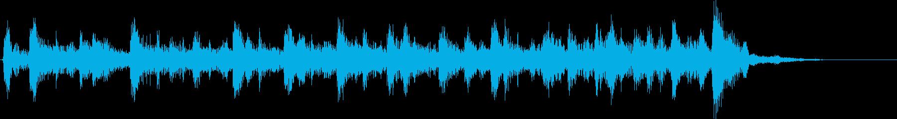 生フォークギター軽快シンプルなジングルの再生済みの波形