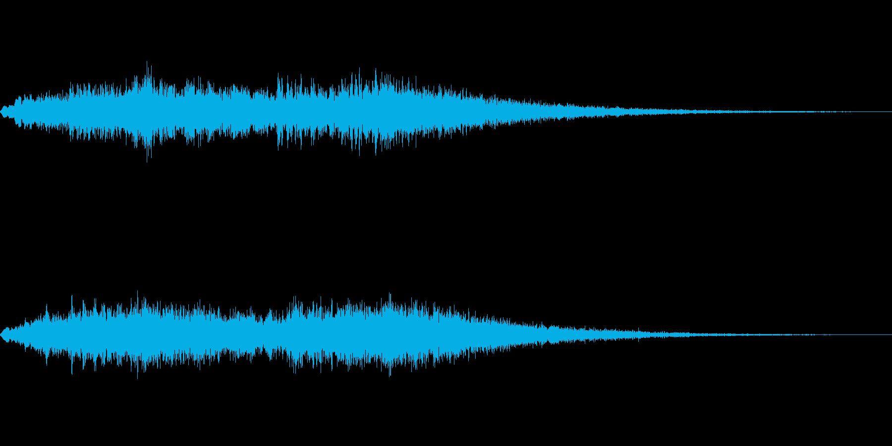 サイレンの再生済みの波形