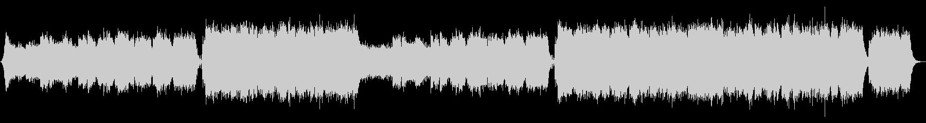 トランペットの情熱的エピックエンディングの未再生の波形