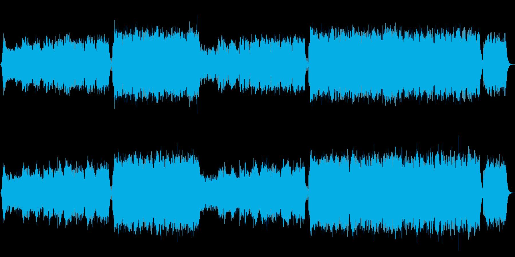 トランペットの情熱的エピックエンディングの再生済みの波形