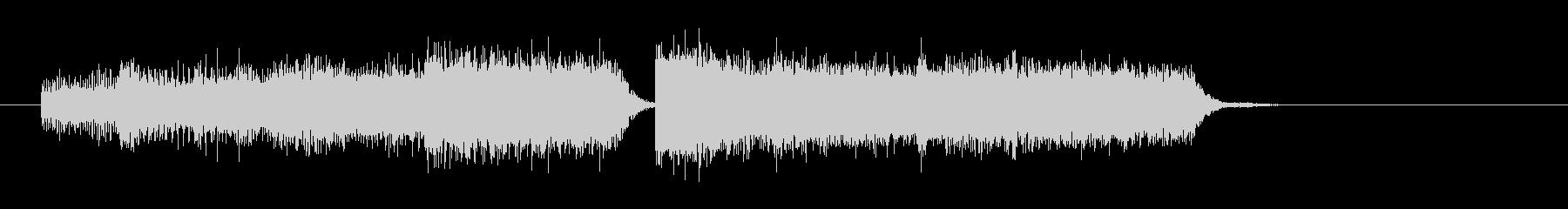 レベルアップ ステータスアップの音の未再生の波形