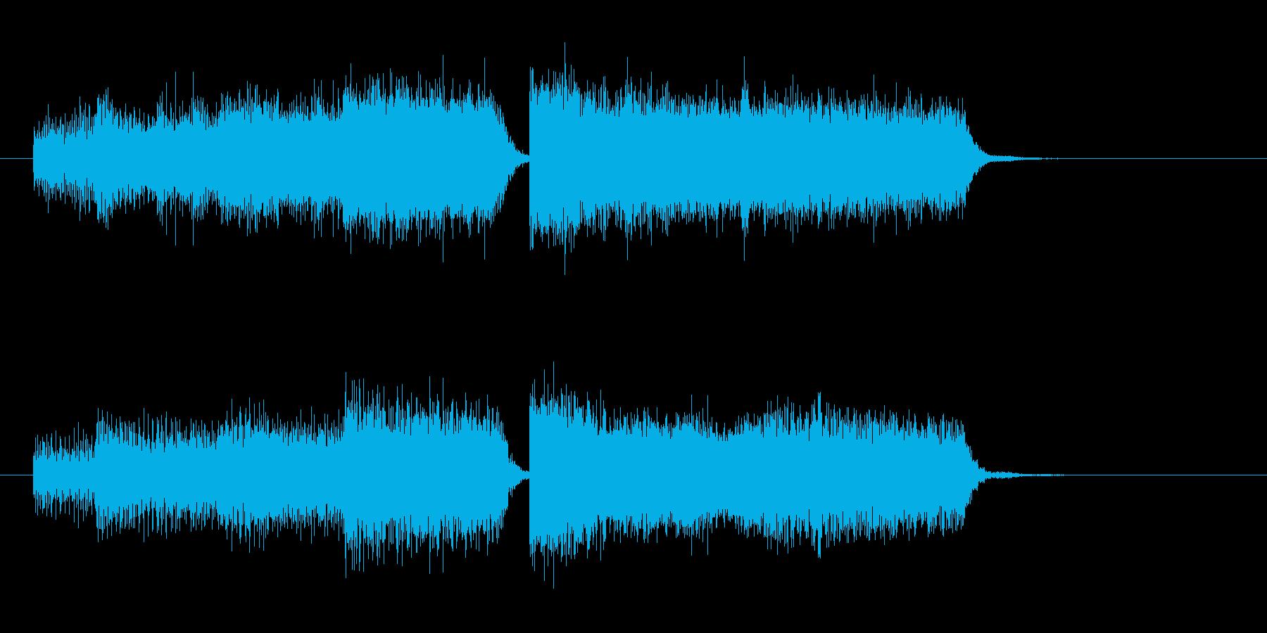 レベルアップ ステータスアップの音の再生済みの波形