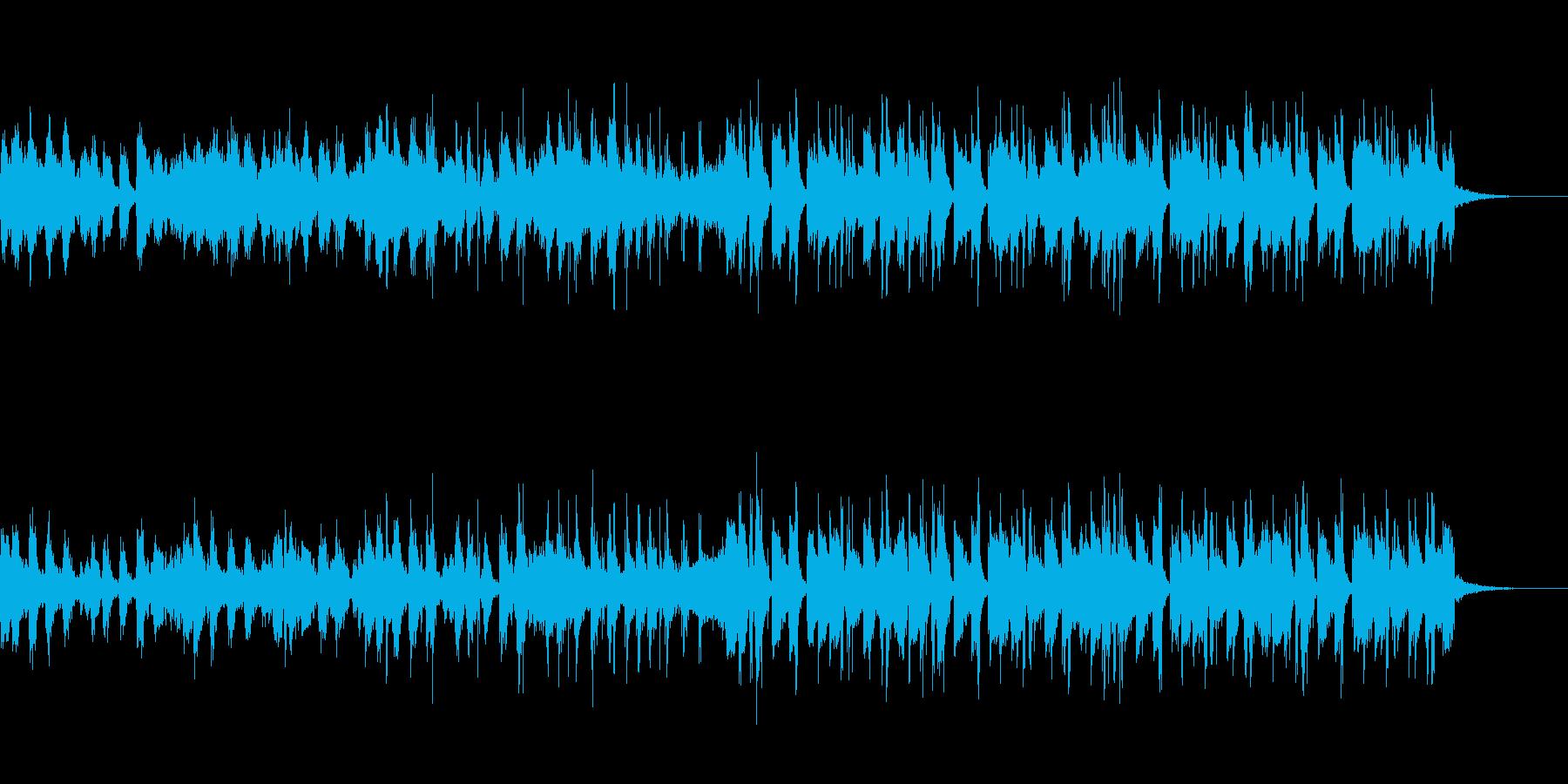 トロピカルチックでスローな四つ打ちの再生済みの波形