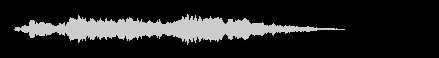怖い感じのするサウンドの未再生の波形