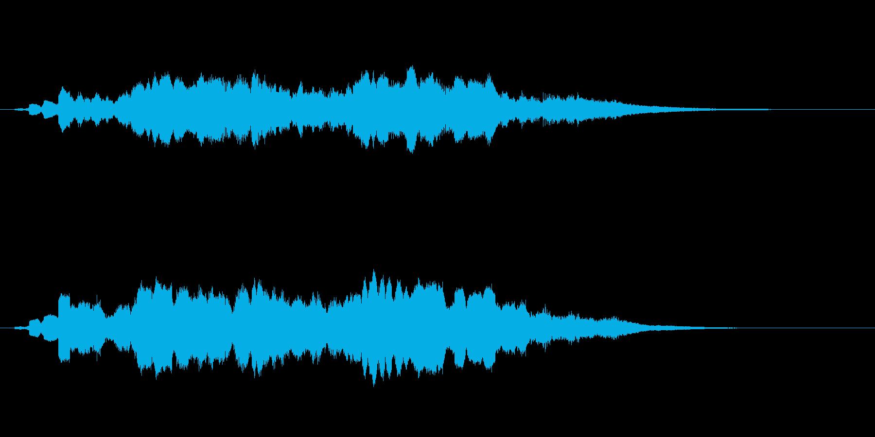 怖い感じのするサウンドの再生済みの波形