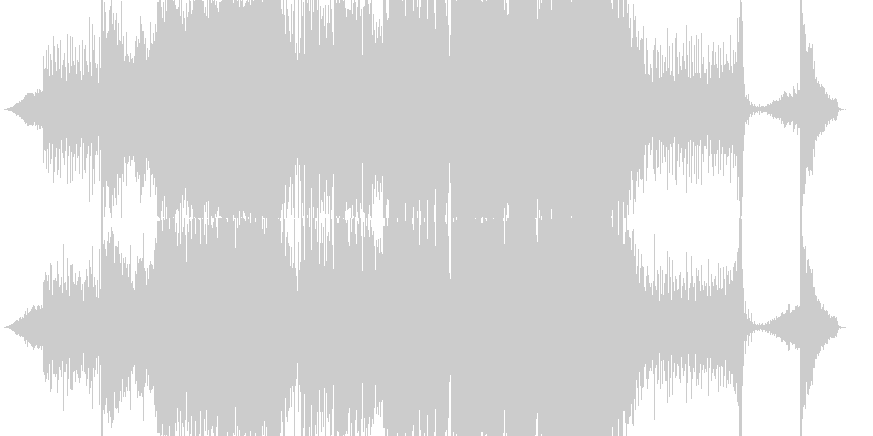ワブルベースとシンフォニックEDMの未再生の波形