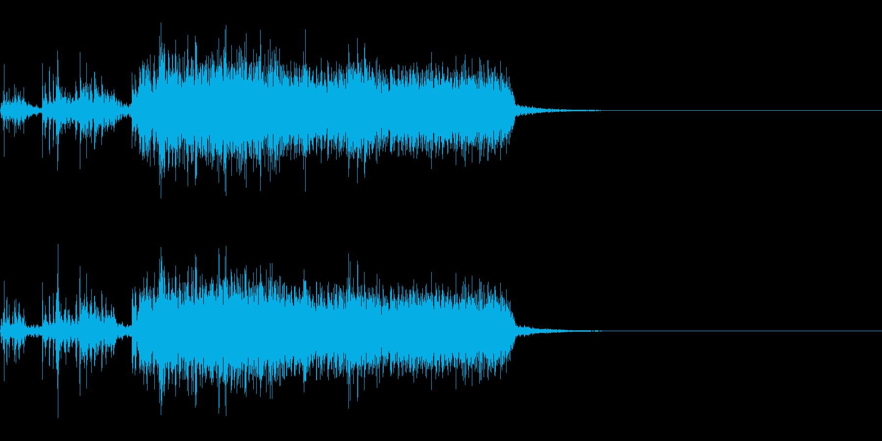 スパーク音-32の再生済みの波形
