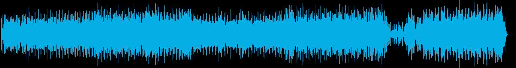 夏 熱く爽やかなフュージョンロックの再生済みの波形