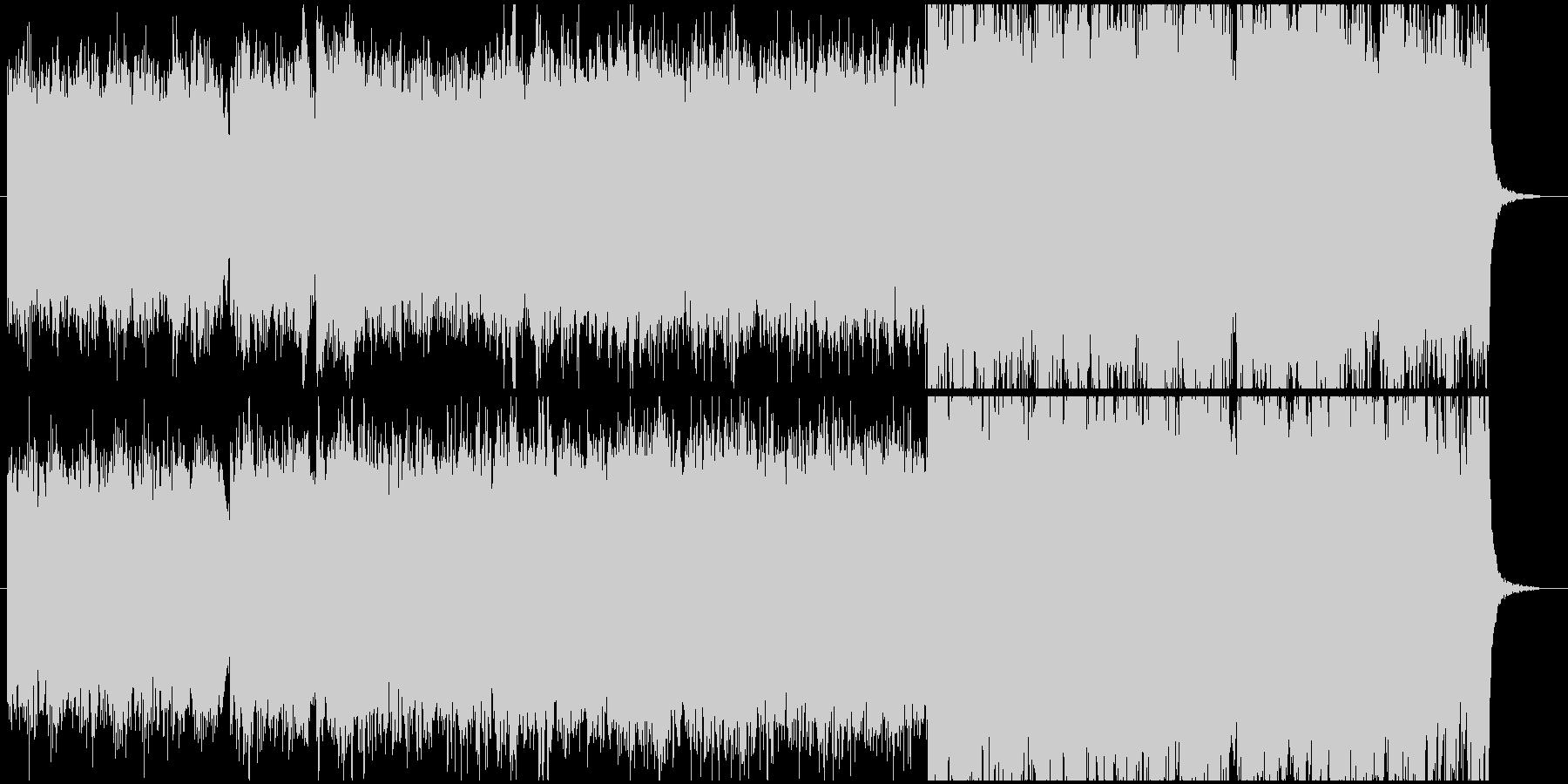 シルクロードをイメージした喜多郎風の曲の未再生の波形
