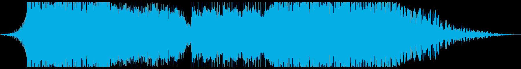 スピード感のあるトラックの再生済みの波形