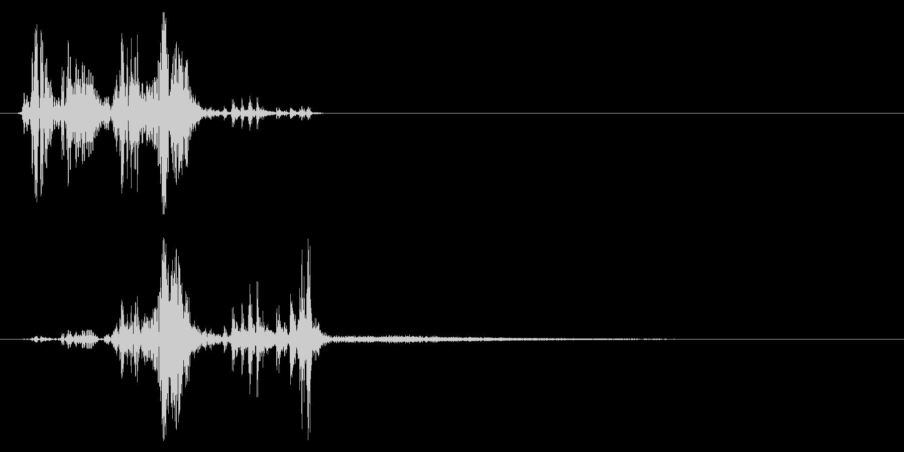 スウッシュによるショートプロセスバ...の未再生の波形