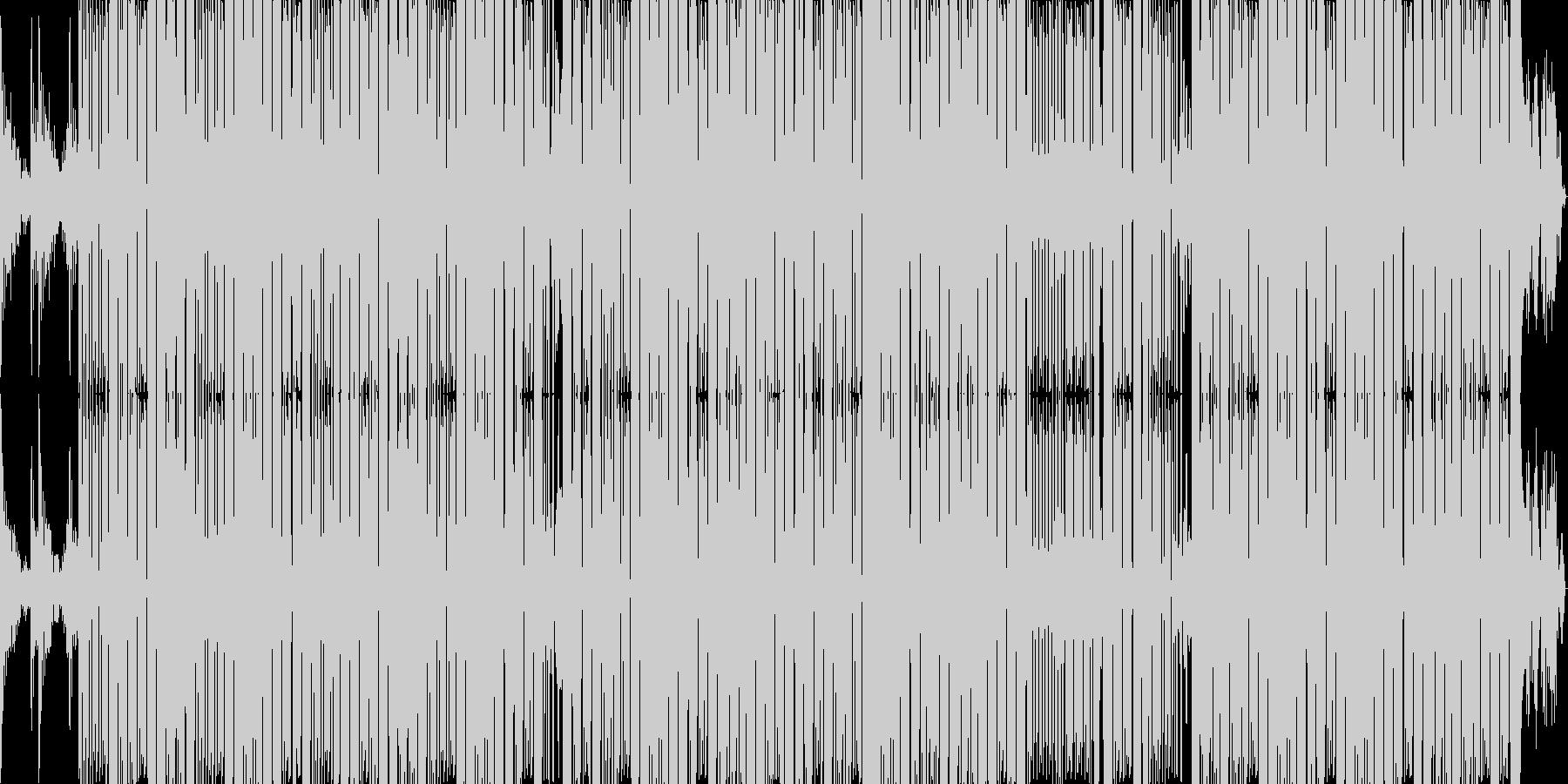 ジャズ風のローズピアノと硬派なサウンドの未再生の波形