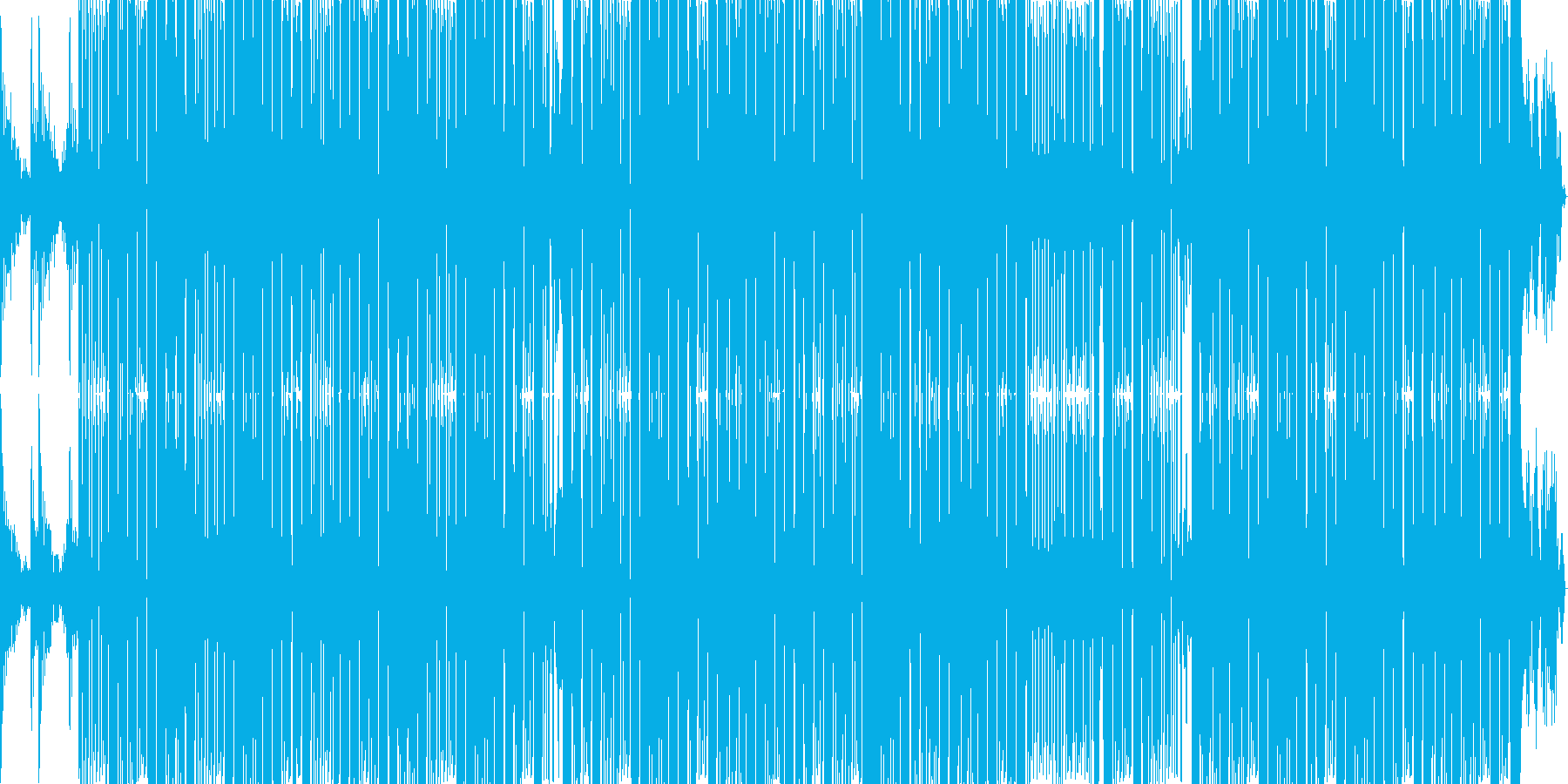 ジャズ風のローズピアノと硬派なサウンドの再生済みの波形