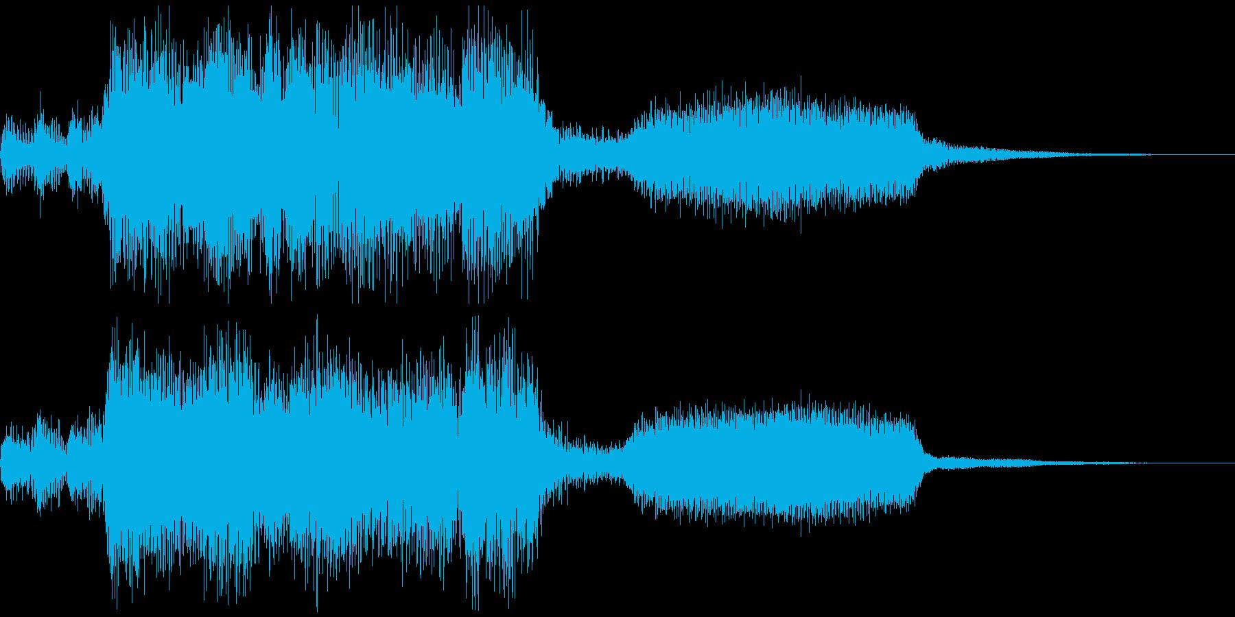 ファンタジーで魔法的なジングルの再生済みの波形