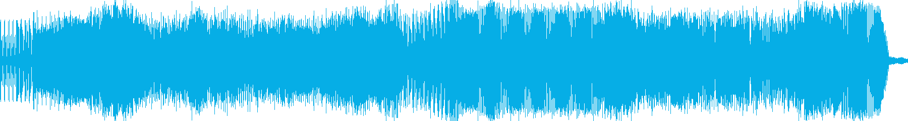 カッコいいアンビエンスBGMの再生済みの波形